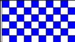 CHECKERED BLUE & WHITE - 5 X 3 FLAG